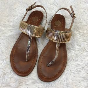 Women's Yellowbox Danae Sandals size 8.5 Gold